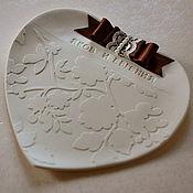 Свадебный салон ручной работы. Ярмарка Мастеров - ручная работа Тарелочка для колечек.Свадебное блюдце. Handmade.