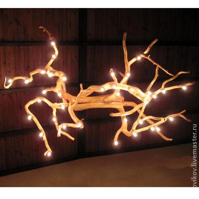 Освещение ручной работы. Ярмарка Мастеров - ручная работа. Купить Люстра 36-рожкова. Handmade. Люстра, светильник из дерева