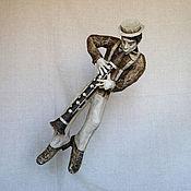 """Для дома и интерьера ручной работы. Ярмарка Мастеров - ручная работа Скульптура """"Соло на кларнете"""". Handmade."""