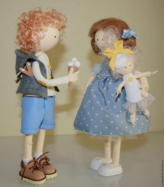 Коллекционные куклы ручной работы. Ярмарка Мастеров - ручная работа. Купить Угощайся)). Handmade. Голубой, любовь, игрушки из фоамирана, куколка