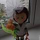 Коллекционные куклы ручной работы. Ярмарка Мастеров - ручная работа. Купить Интерьерная кукла Первоклашка. Handmade. Коричневый, текстильная кукла
