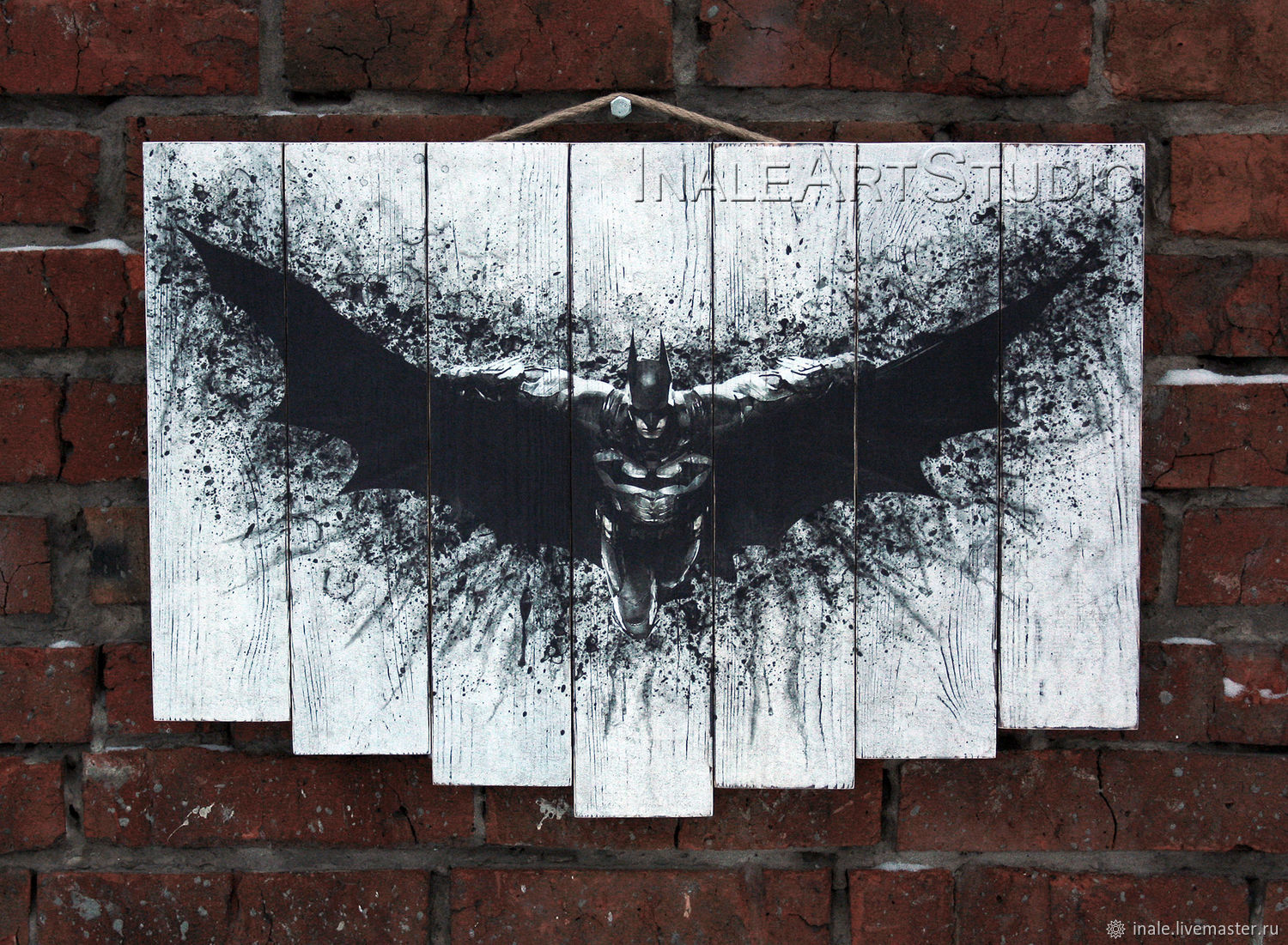 Batman Picture on wood Wood wall hanging, Pictures, Tomsk,  Фото №1