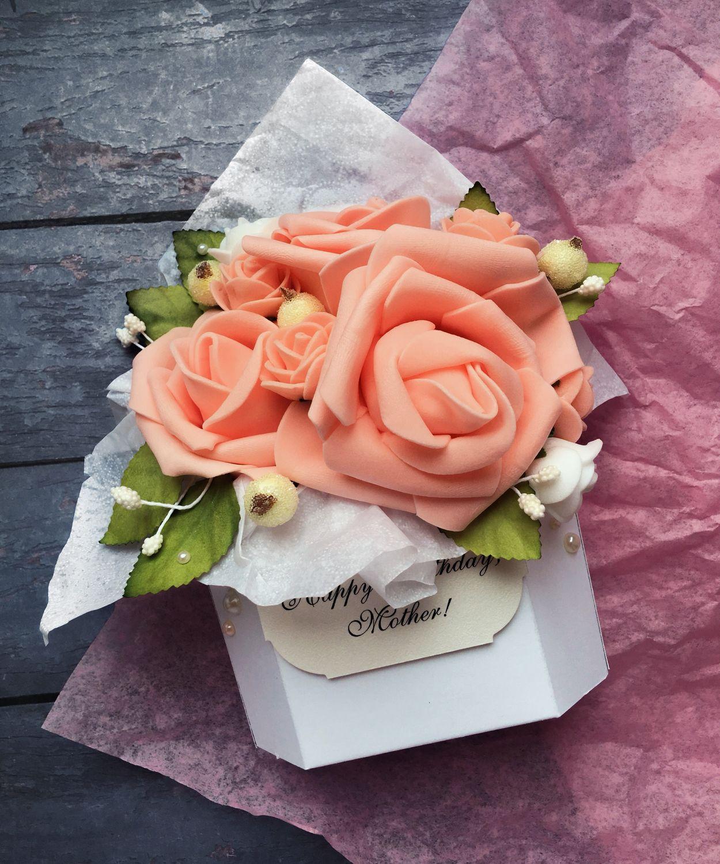 Открытка конвертик с цветами