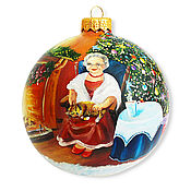 """Подарки к праздникам ручной работы. Ярмарка Мастеров - ручная работа Елочный шар """"Минутки до Нового года"""". Handmade."""