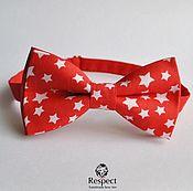 Аксессуары handmade. Livemaster - original item Red tie Stars / bow tie with stars. Handmade.