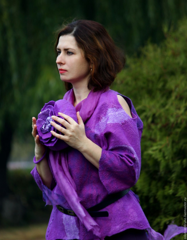 Блузка фиолетового цвета с доставкой