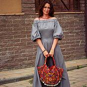 Одежда handmade. Livemaster - original item Long dress with wide skirt