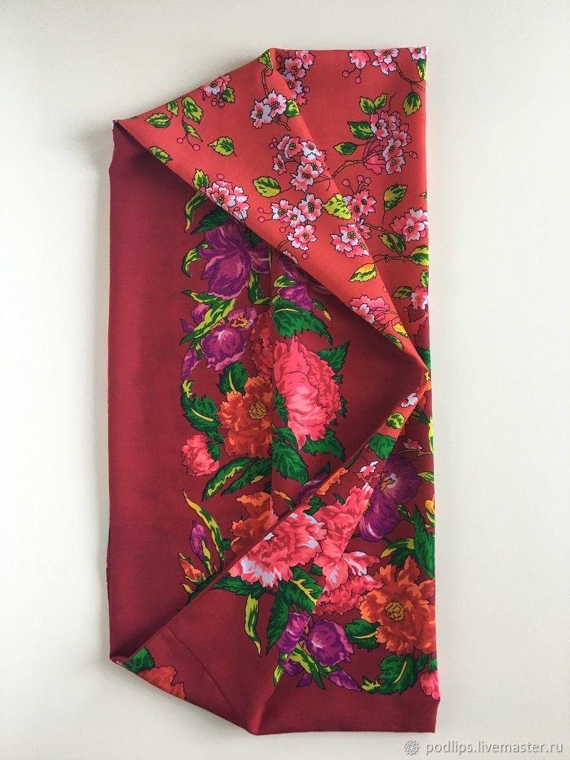 павловопосадский платок цветущий сад