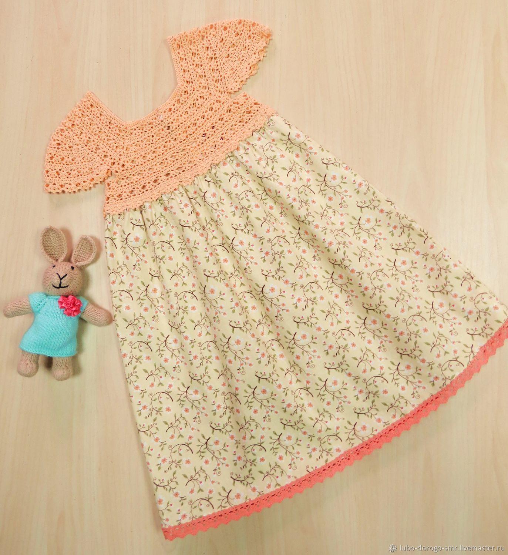 Одежда для девочек, ручной работы. Ярмарка Мастеров - ручная работа. Купить Платье детское. Handmade. Бежевый, ручная работа