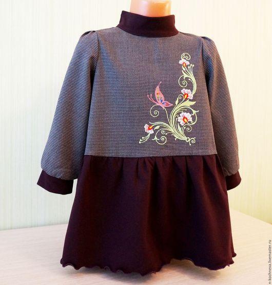 Одежда для девочек, ручной работы. Ярмарка Мастеров - ручная работа. Купить Детское платье теплое с вышивкой. Handmade. Платье для девочки