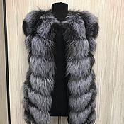 Одежда ручной работы. Ярмарка Мастеров - ручная работа Жилет из чернобурки 70 см. длина. Handmade.