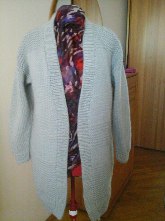 Пиджаки, жакеты ручной работы. Ярмарка Мастеров - ручная работа. Купить Кардиган. Handmade. Кардиган, теплый подарок, ровница