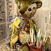 """Куклы и игрушки ручной работы. Ярмарка Мастеров - ручная работа Медведь """"Крокус"""". Уехал в Австралию))). Handmade."""
