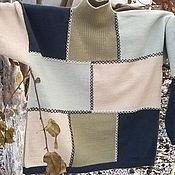 Одежда handmade. Livemaster - original item Sweater knitted Patchwork mens knitting needles, large size handmade. Handmade.