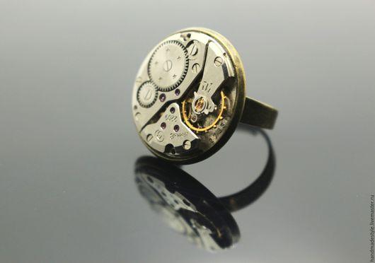 """Кольца ручной работы. Ярмарка Мастеров - ручная работа. Купить Стимпанк кольцо """"Mechanismus""""-2. Handmade. Серебряный, стимпанк, необычный"""