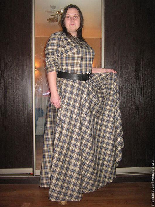 Платья ручной работы. Ярмарка Мастеров - ручная работа. Купить Вечернее платье в клетку. Handmade. В клеточку, большие размеры