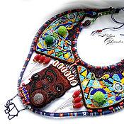 Украшения ручной работы. Ярмарка Мастеров - ручная работа Африка, этнический стиль, африканские бусы, Девушка племени Сурма. Handmade.