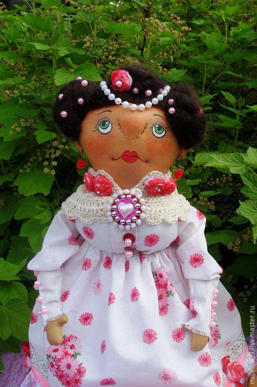 Коллекционные куклы ручной работы. Ярмарка Мастеров - ручная работа. Купить Текстильная кукла барышня Глафира. Handmade. Разноцветный