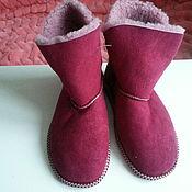 Обувь ручной работы handmade. Livemaster - original item Bright suede ugg boots for home. Handmade.