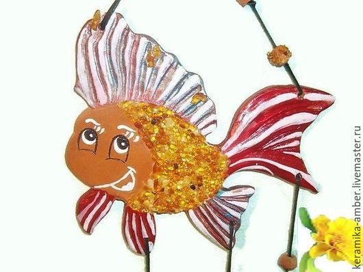 Детская ручной работы. Ярмарка Мастеров - ручная работа. Купить Рыба Веселушка панно керамика на стену для детской детей. Handmade.