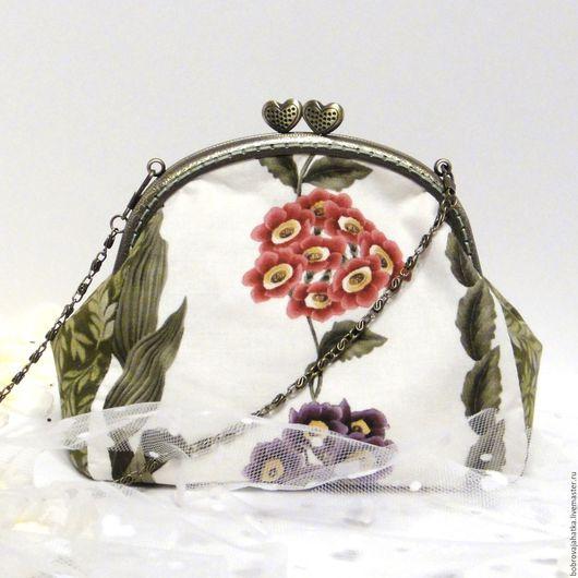 Женские сумки ручной работы. Ярмарка Мастеров - ручная работа. Купить Женская сумочка Белая летняя сумка клатч кошелек Цветы Подарок подруге. Handmade.