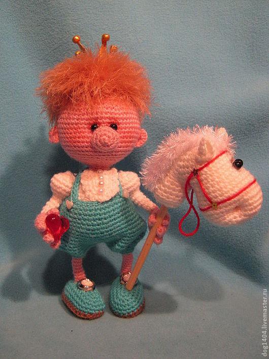 Обучающие материалы ручной работы. Ярмарка Мастеров - ручная работа. Купить МК по вязанию игрушки Прынц на белом коне. Handmade.