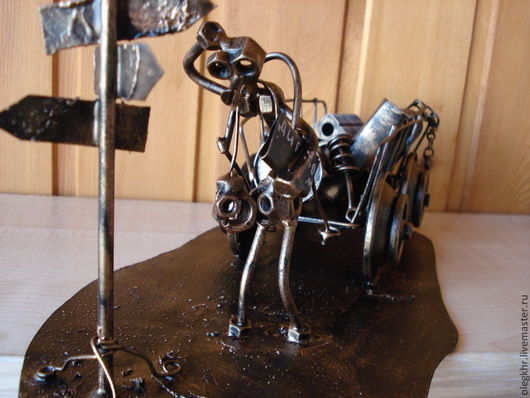 Миниатюрные модели ручной работы. Ярмарка Мастеров - ручная работа. Купить Выпускник на распутье. Handmade. Подарок студенту, гайки