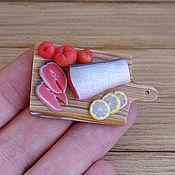 Куклы и игрушки ручной работы. Ярмарка Мастеров - ручная работа Красная рыбка - миниатюра. Handmade.