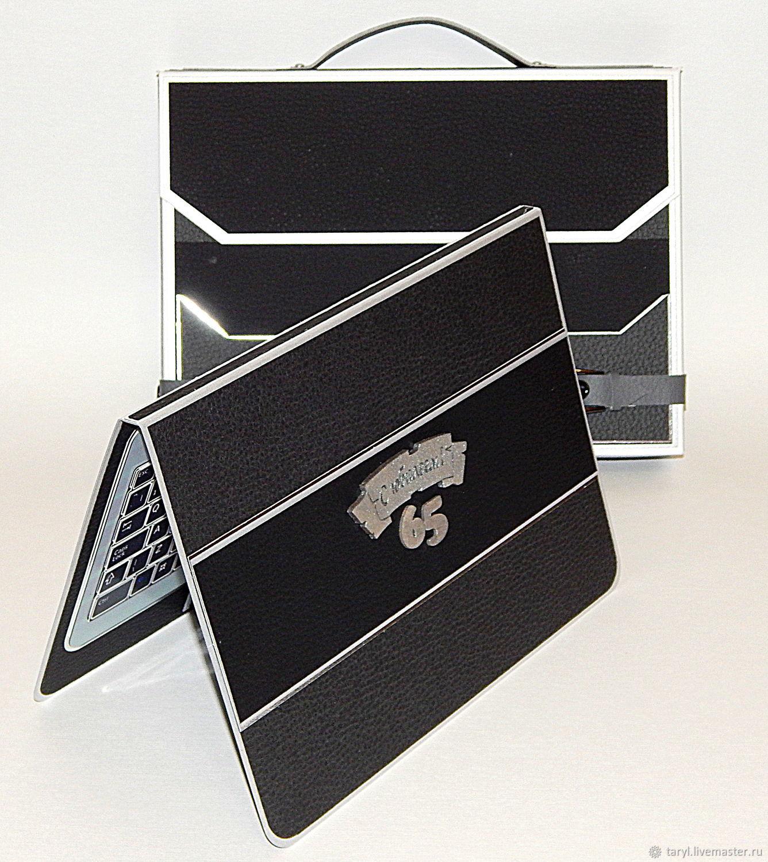 Открытка в форме ноутбука