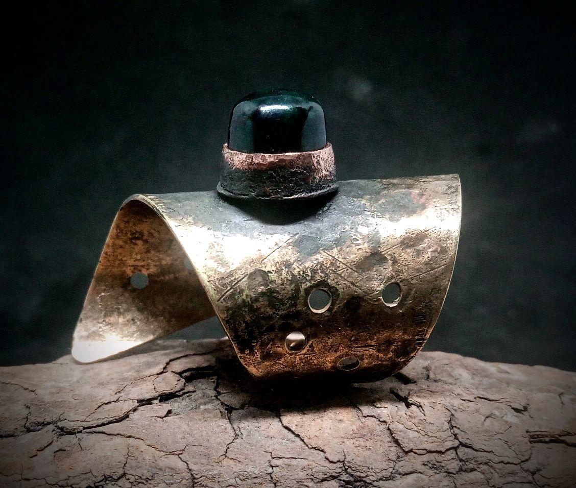 Кольцо латунное с камнем, Кольца, Новосибирск,  Фото №1