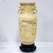 Винтаж handmade. Livemaster - original item Vase carved Asia Vintage. Handmade.