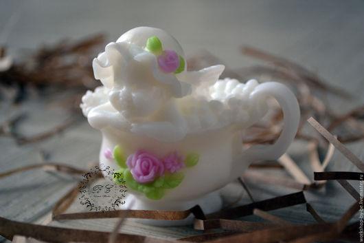 Мыло ручной работы. Ярмарка Мастеров - ручная работа. Купить Ангел в чашечке. Handmade. Белый, мыло ручной работы, романтика