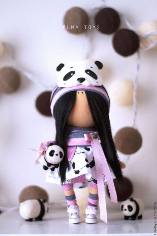 Коллекционные куклы ручной работы. Ярмарка Мастеров - ручная работа. Купить Кукла Панда. Handmade. Бледно-сиреневый, панда