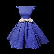 """Одежда ручной работы. Ярмарка Мастеров - ручная работа Платье """"Твист  blu"""". Handmade."""