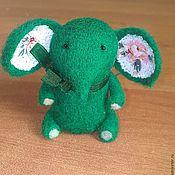 Куклы и игрушки ручной работы. Ярмарка Мастеров - ручная работа Слоны шерстяные. Handmade.