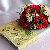 Подарки к праздникам ручной работы. Ярмарка Мастеров - ручная работа Букет из конфет (декор коробки шоколадных конфет). Handmade.