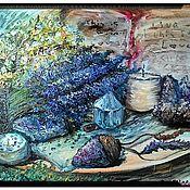 Картины ручной работы. Ярмарка Мастеров - ручная работа Картина маслом Лавандовые сны. Handmade.