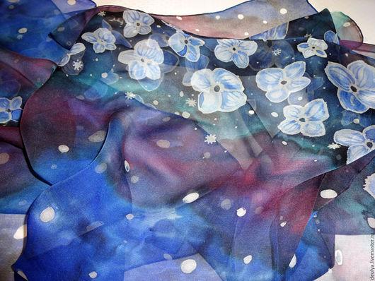 """Шарфы и шарфики ручной работы. Ярмарка Мастеров - ручная работа. Купить Батик шарф """"Космос"""". Handmade. 100% шелк, аксессуар"""