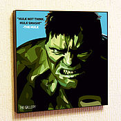 Картины и панно handmade. Livemaster - original item Painting Pop Art Marvel The Hulk Hulk. Handmade.