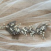 Свадебный салон ручной работы. Ярмарка Мастеров - ручная работа Гребень из листьев. Handmade.