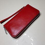 Wallets handmade. Livemaster - original item Purse zipper (zipper) made of genuine leather. Handmade.