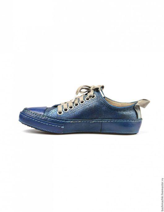 """Обувь ручной работы. Ярмарка Мастеров - ручная работа. Купить Кеды женские """"aircross""""  #82. Handmade. Чёрно-белый"""
