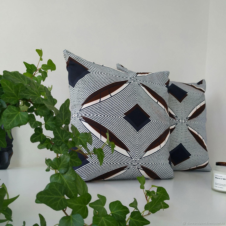 Pillow decorative pillowcase ArtDeco graphics, Pillow, St. Petersburg,  Фото №1