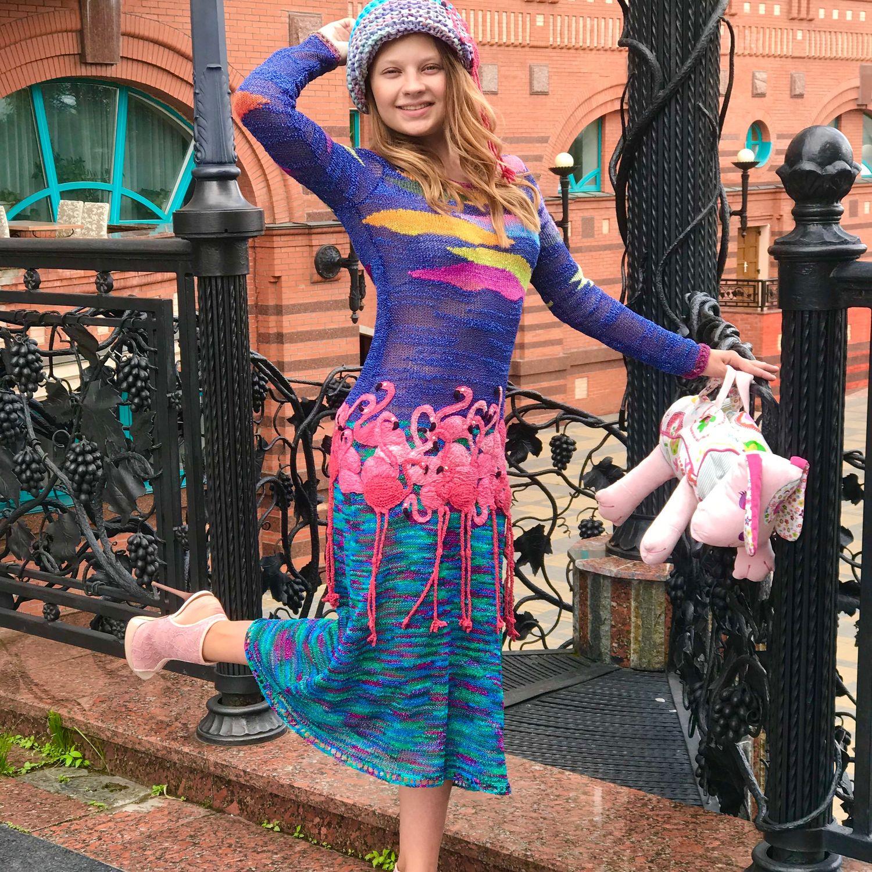 Платье ручной работы ФЛАМИНГО 2, Платья, Москва,  Фото №1