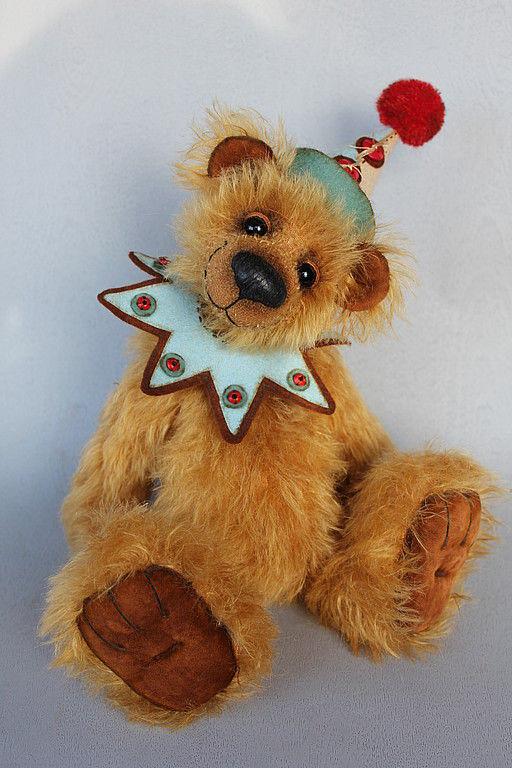Мишки Тедди ручной работы. Ярмарка Мастеров - ручная работа. Купить Мишка - клоун  Мо. Handmade. Мишки тедди