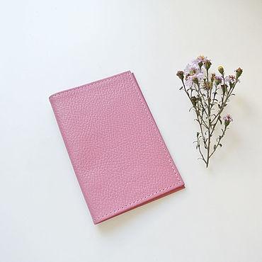 Канцелярские товары ручной работы. Ярмарка Мастеров - ручная работа Розовая Обложка для Паспорта Из натуральной Кожи (Pink_Pas). Handmade.