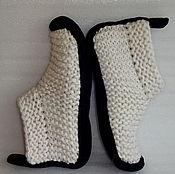 Обувь ручной работы. Ярмарка Мастеров - ручная работа Носки белые, полушерсть, р.38. Handmade.