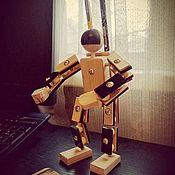 Техника, роботы, транспорт ручной работы. Ярмарка Мастеров - ручная работа Космонавт - конструктор из дерева. Handmade.