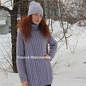 Одежда handmade. Livemaster - original item longline sweater SIZ. Handmade.