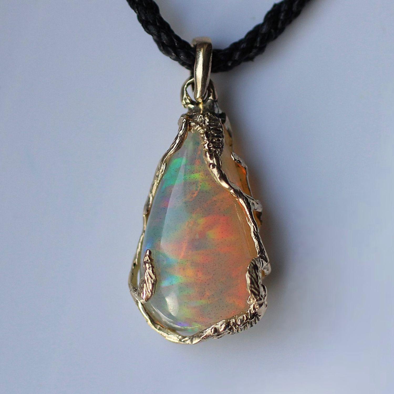 Moth pendant with rainbow opal, Pendants, Moscow,  Фото №1